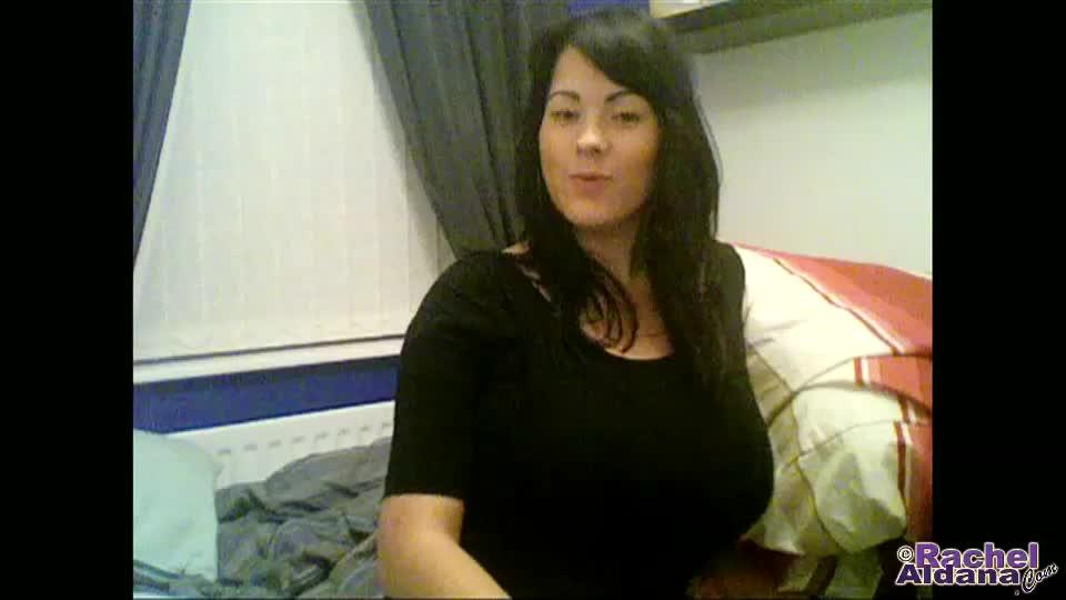 Rachel aldana  webcam 83  heavy boobs in a tight sweater  1min
