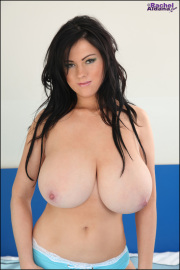 Rachel aldana  easter blue 3  large tits in blue and yellow