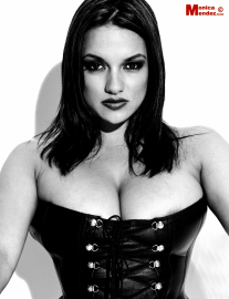 Monica mendez  leather corset  set 1  this shoot is sure to