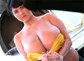 Rachel bubble bath01 trailer  rachel pops her natural huge tits out of her shirt Rachel pops her natural huge breasts out of her shirt.
