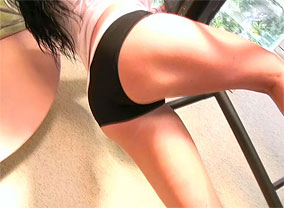 Rachel workout02 trailer busty rachel goes topless while she is Busty Rachel goes topless while she is working out.